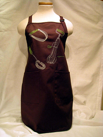 The Lindy Apron - Custom Embroidery